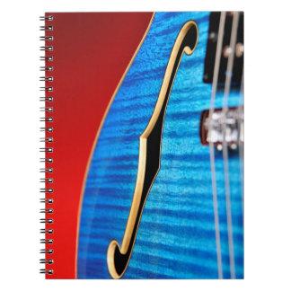 Guitarra azul libros de apuntes con espiral