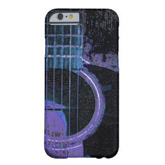 Guitarra azul, púrpura, negra en la cubierta del funda barely there iPhone 6