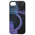 Guitarra azul, púrpura, negra en la cubierta del t iPhone 5 cobertura
