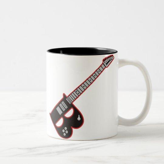 Guitarra B Taza De Café De Dos Colores