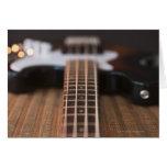 Guitarra baja 2 tarjeta de felicitación