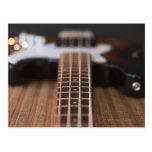 Guitarra baja 2 tarjetas postales