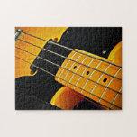 Guitarra baja amarilla puzzles