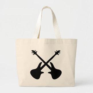 guitarra baja cruzada bolsa