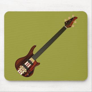 Guitarra baja de Alembi de cinco secuencias Mouse Pads