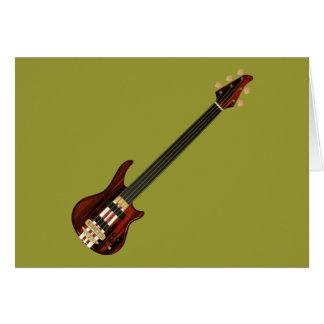 Guitarra baja de Alembi de cinco secuencias Tarjeta De Felicitación