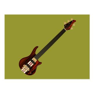 Guitarra baja de Alembi de cinco secuencias Tarjetas Postales