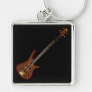 Guitarra baja de secuencia de Fretless 4 Llaveros Personalizados