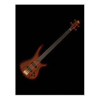 Guitarra baja de secuencia de Fretless 4 Tarjetas Postales