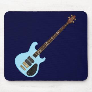 Guitarra baja del alambique azul tapetes de ratones