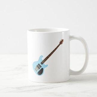 Guitarra baja del alambique azul taza de café