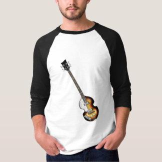 Guitarra baja del violín playera