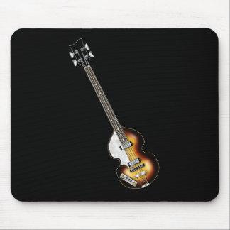 Guitarra baja del violín tapete de raton
