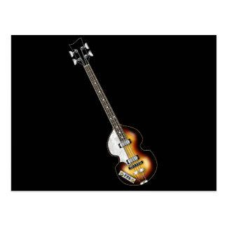 Guitarra baja del violín tarjetas postales
