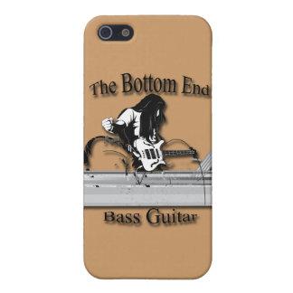 Guitarra baja el negro del final inferior iPhone 5 funda