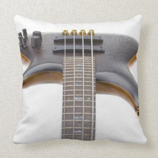 Guitarra baja eléctrica cojín decorativo