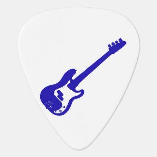 guitarra baja graphic.png azul inclinado púa de guitarra
