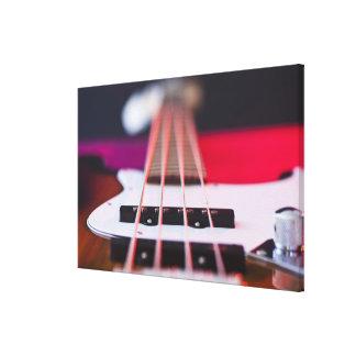 Guitarra baja impresion de lienzo