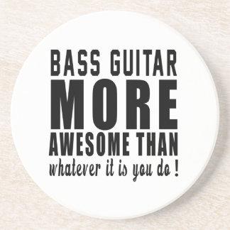 Guitarra baja más impresionante que lo que es posavasos personalizados