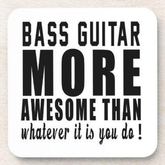 Guitarra baja más impresionante que lo que es posavasos