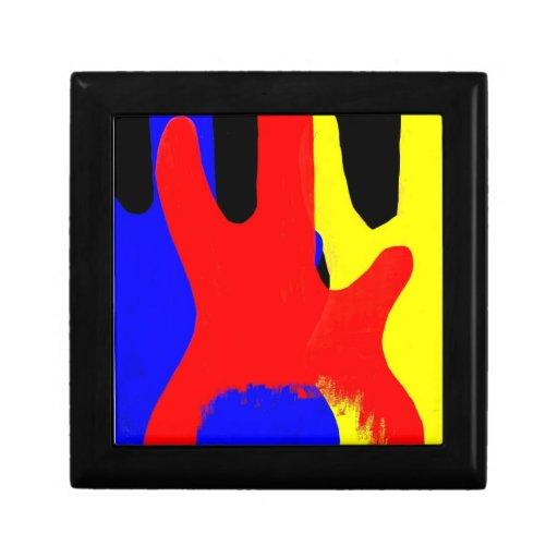 Guitarra baja que pinta colores brillantes abstrac caja de joyas