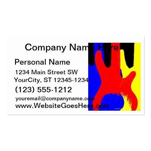 Guitarra baja que pinta colores brillantes tarjetas de visita