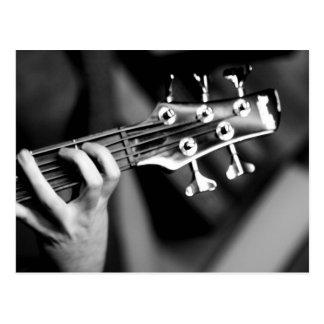 guitarra baja postal