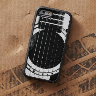 Guitarra blanco y negro del vintage funda de iPhone 6 tough xtreme