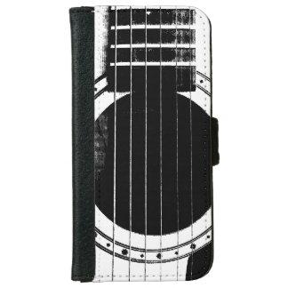 Guitarra blanco y negro del vintage