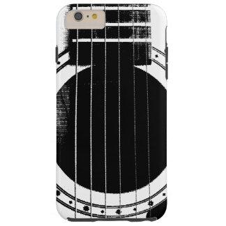 Guitarra blanco y negro del vintage funda para iPhone 6 plus tough