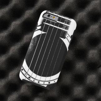 Guitarra blanco y negro del vintage funda para iPhone 6 tough