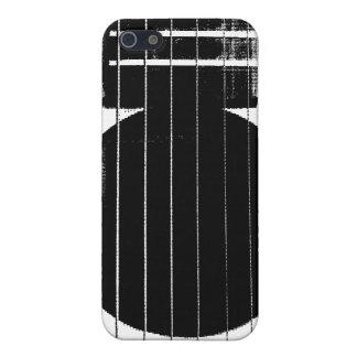 Guitarra blanco y negro del vintage iPhone 5 carcasa
