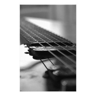 Guitarra blanco y negro personalized stationery