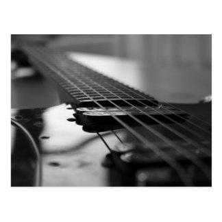 Guitarra blanco y negro tarjetas postales