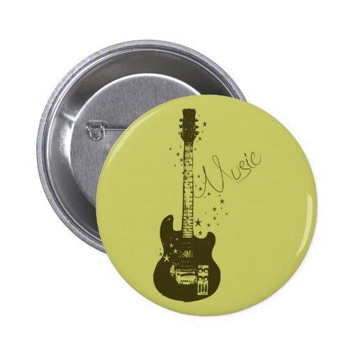 Guitarra - botón de encendido de la música