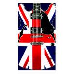 Guitarra británica de Union Jack de la bandera Tarjetas De Visita