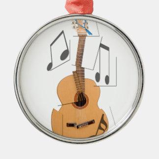 Guitarra Brown Adorno Navideño Redondo De Metal