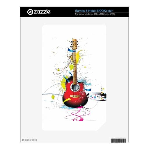 Guitarra Calcomanías Para El NOOK Color