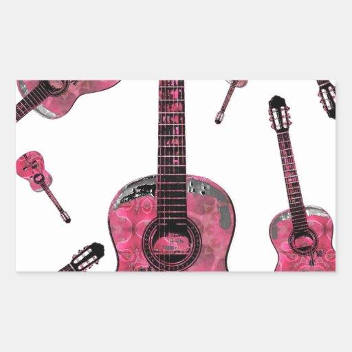 Guitarra clásica 10.jpg pegatina rectangular