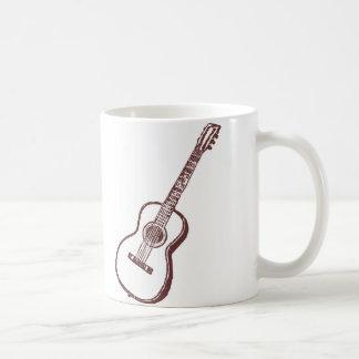 Guitarra clásica acústica de Brown Taza Básica Blanca