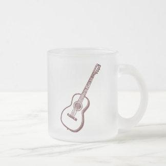 Guitarra clásica acústica de Brown Taza De Café Esmerilada