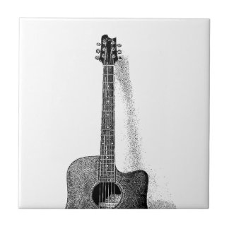 Guitarra clásica azulejo cuadrado pequeño