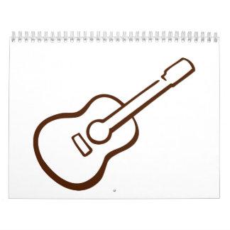Guitarra clásica calendarios