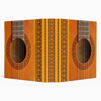 """Guitarra clásica coloreada moreno anaranjado carpeta 2"""""""