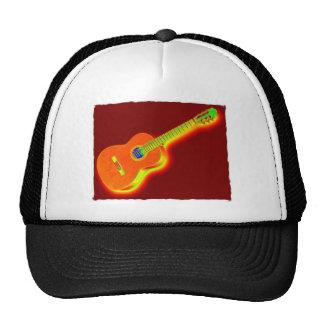 Guitarra clásica del arte pop gorro