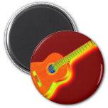 Guitarra clásica del arte pop imán redondo 5 cm