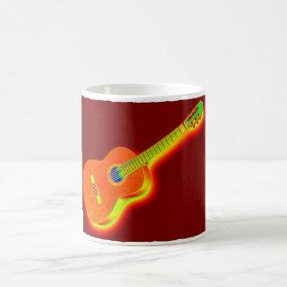 Guitarra clásica del arte pop taza de café