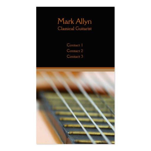 Guitarra clásica tarjetas de visita