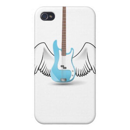 Guitarra coa alas iPhone 4 protectores