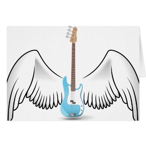 Guitarra coa alas tarjetón